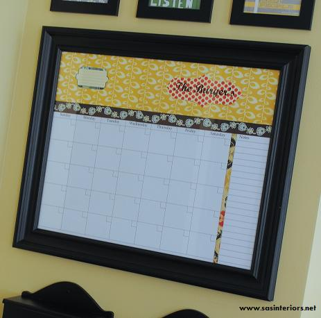 Personalized Dry Erase Wall Calendar