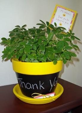 Homemade Teacher Gifts - Chalkboard Flower Pot