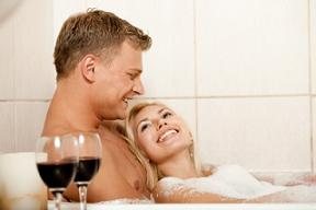 Personalized Valentines Day Gifts - Hot Bath With Perfumed Salts