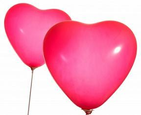 Inexpensive Romantic Gifts - Heart Shaped Balloons