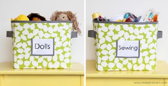 Teacher Appreciation Gift Ideas - Fabric Storage Boxes