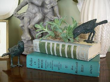 Homemade Teacher Gifts - Vintage Book Planter