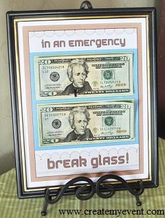 Last Minute Birthday Gift Ideas - Break Glass in an Emergenc