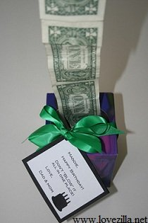 Last Minute Birthday Gift - Money in a Tissue Bo